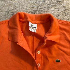 7455b79a Lacoste Tops - Orange Women's Lacoste polo / golf shirt